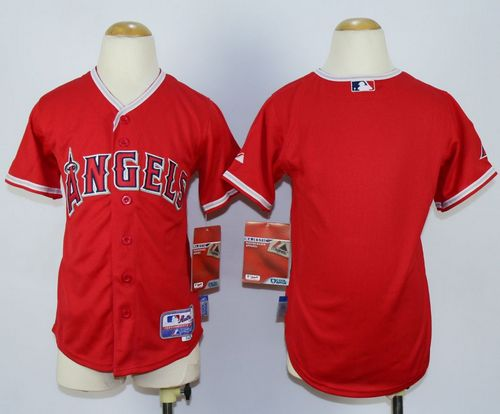 Angels Blank Red Cool Base Stitched Youth MLB Jersey