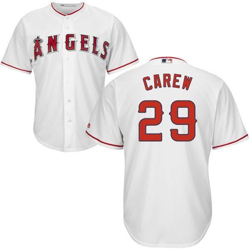 Angels #29 Rod Carew White Cool Base Stitched Youth MLB Jersey