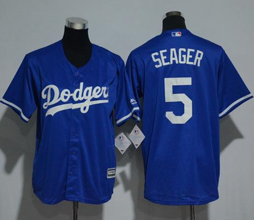 Dodgers #5 Corey Seager Blue Cool Base Stitched Youth MLB Jersey