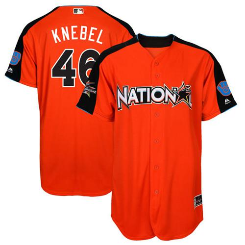 Brewers #46 Corey Knebel Orange 2017 All-Star National League Stitched Youth MLB Jersey