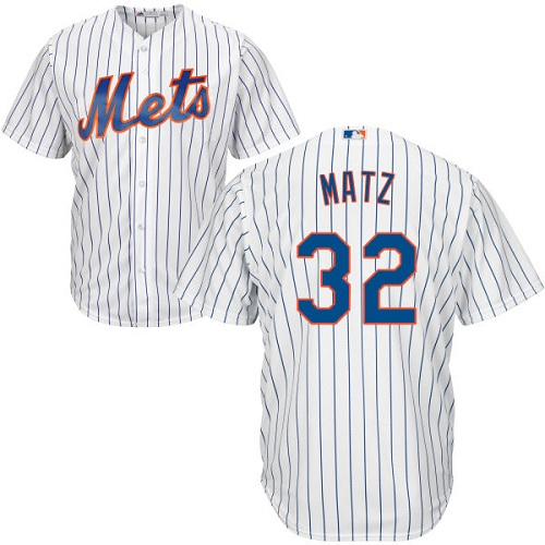 Mets #32 Steven Matz White(Blue Strip) Cool Base Stitched Youth MLB Jersey