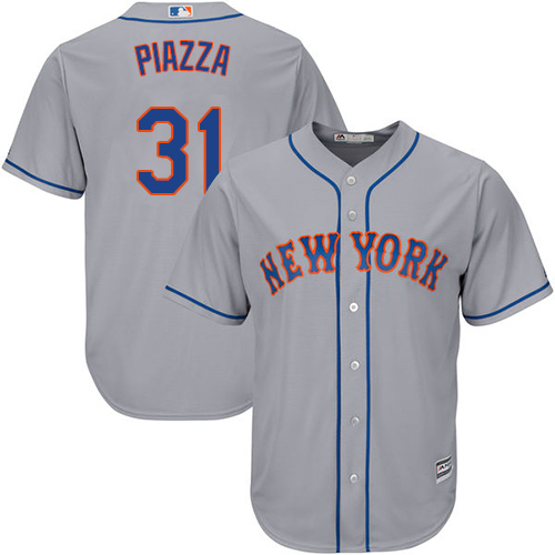 Mets #31 Mike Piazza Grey Cool Base Stitched Youth MLB Jersey