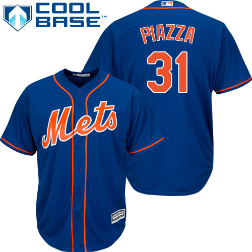 Mets #31 Mike Piazza Blue Cool Base Stitched Youth MLB Jersey