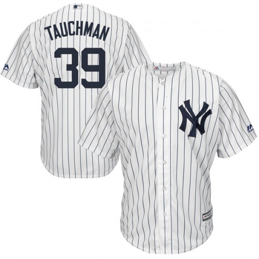 Yankees #39 Mike Tauchman White Strip New Cool Base Stitched Youth MLB Jersey