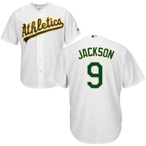 Athletics #9 Reggie Jackson White Cool Base Stitched Youth MLB Jersey
