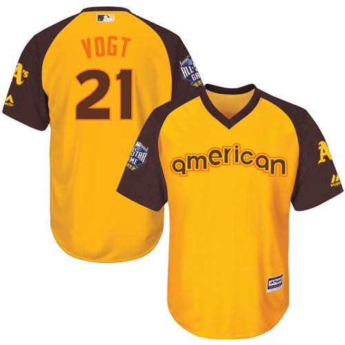 Athletics #21 Stephen Vogt Gold 2016 All-Star American League Stitched Youth MLB Jersey