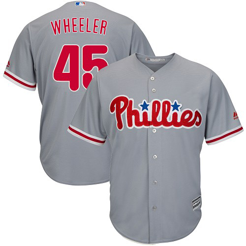 Phillies #45 Zack Wheeler Grey Cool Base Stitched Youth MLB Jersey