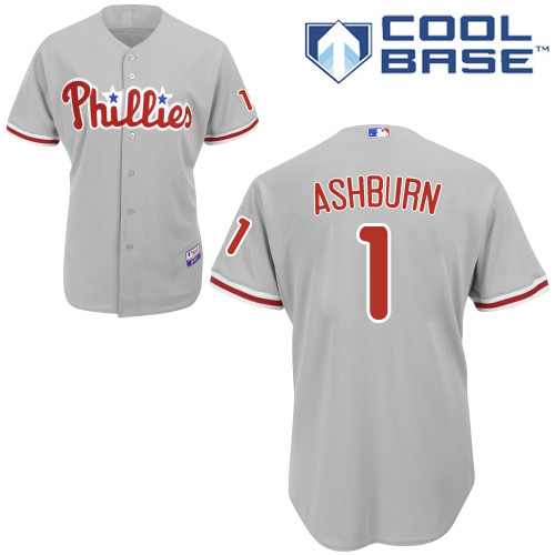Phillies #1 Richie Ashburn Grey Cool Base Stitched Youth MLB Jersey