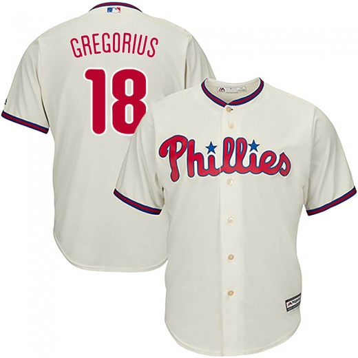 Phillies #18 Didi Gregorius Cream Cool Base Stitched Youth MLB Jersey