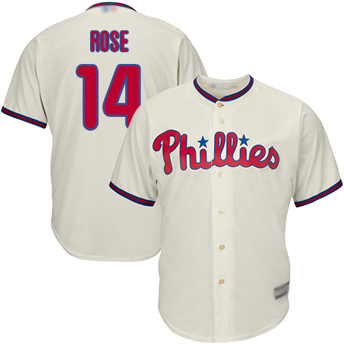 Phillies #14 Pete Rose Cream Cool Base Stitched Youth MLB Jersey