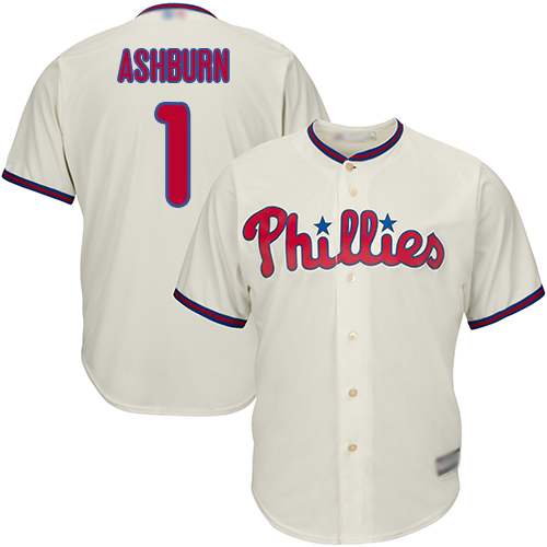 Phillies #1 Richie Ashburn Cream Cool Base Stitched Youth MLB Jersey