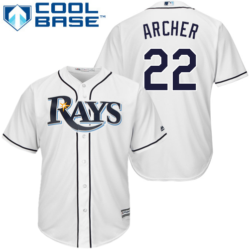 Rays #22 Chris Archer White Cool Base Stitched Youth MLB Jersey