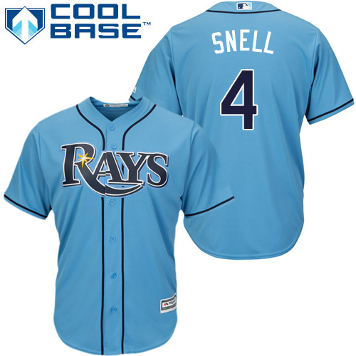 Rays #4 Blake Snell Light Blue Cool Base Stitched Youth MLB Jersey