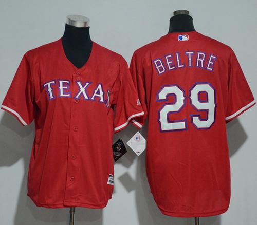 Rangers #29 Adrian Beltre Red Cool Base Stitched Youth MLB Jersey