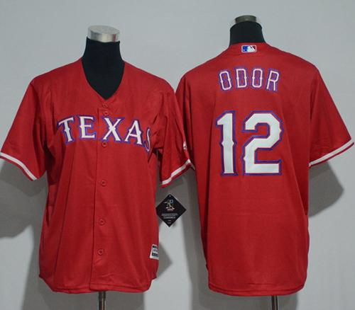 Rangers #12 Rougned Odor Red Cool Base Stitched Youth MLB Jersey