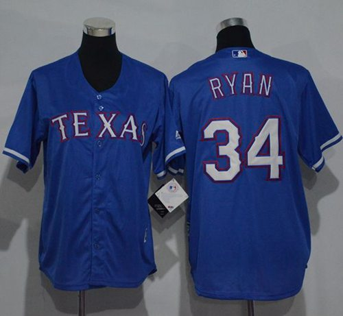 Rangers #34 Nolan Ryan Blue Cool Base Stitched Youth MLB Jersey