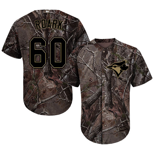 Blue Jays #60 Tanner Roark Camo Realtree Collection Cool Base Stitched Youth MLB Jersey