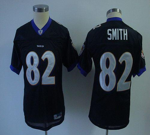 Ravens #82 Torrey Smith Black Stitched Youth NFL Jersey