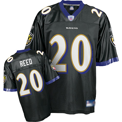 Ravens #20 ED Reed Black Stitched Youth NFL Jersey