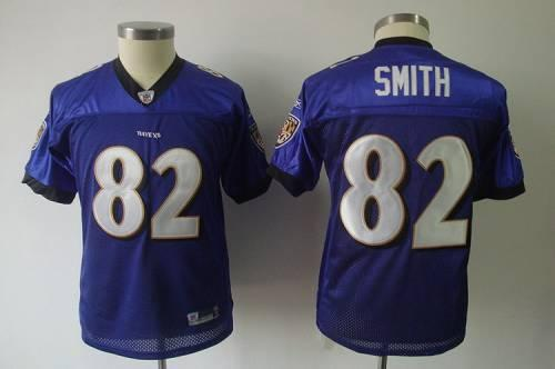 Ravens #82 Torrey Smith Purple Stitched Youth NFL Jersey