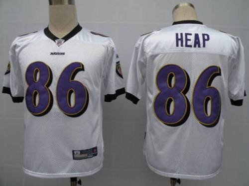 Ravens #86 Todd Heap White Stitched Youth NFL Jersey