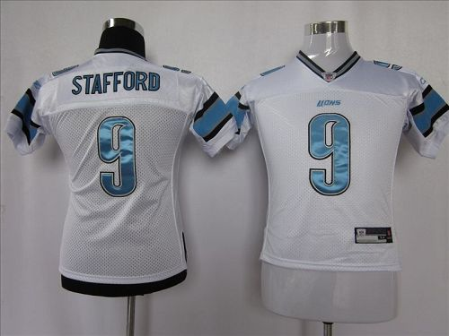 Lions #9 Matthew Stafford White EStitched Youth NFL Jersey