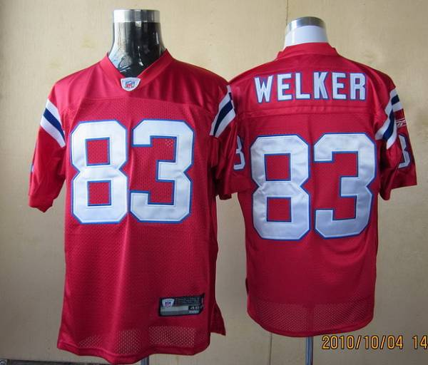 Patriots #83 Wes Welker Red Stitched Youth NFL Jersey