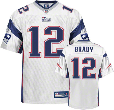 Patriots #12 Tom Brady White Stitched Youth NFL Jersey