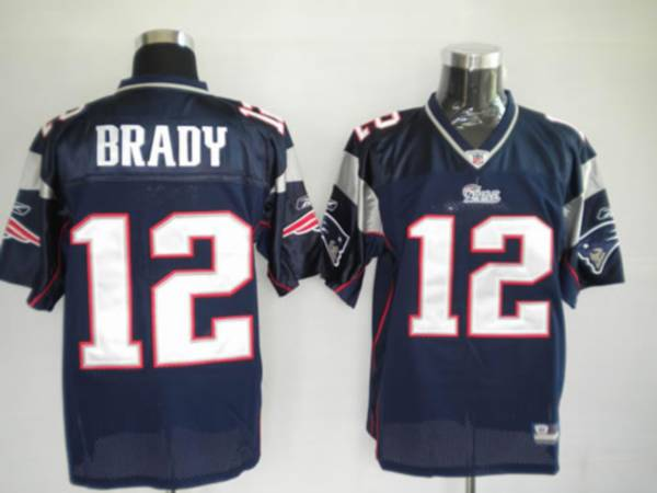 Patriots #12 Tom Brady Blue Stitched Youth NFL Jersey