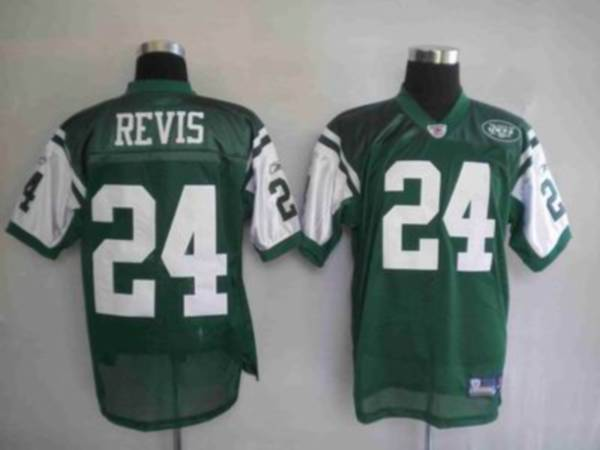 Jets #24 Darrelle Revis Green Stitched Youth NFL Jersey