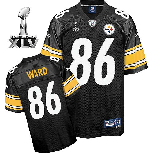 Steelers #86 Hines Ward Black Super Bowl XLV Stitched Youth NFL Jersey