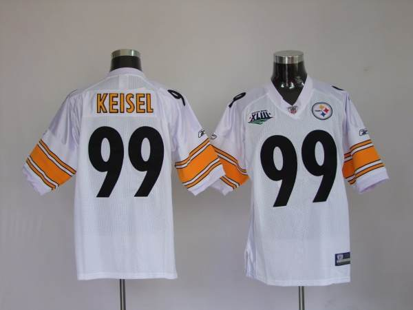 Steelers #99 Brett Keisel White Super Bowl Stitched Youth NFL Jersey