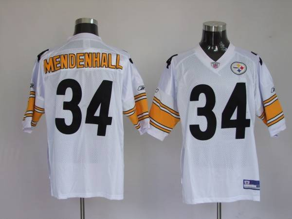 Steelers #34 Rashard Mendenhall White Stitched Youth NFL Jersey