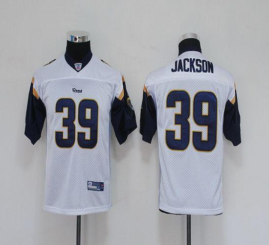 Rams #39 Steven Jackson White Stitched Youth NFL Jersey
