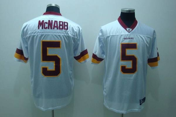 Redskins #5 Donovan McNabb White Stitched Youth NFL Jersey