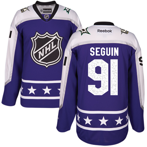 Stars #91 Tyler Seguin Purple 2017 All-Star Central Division Youth Stitched NHL Jersey