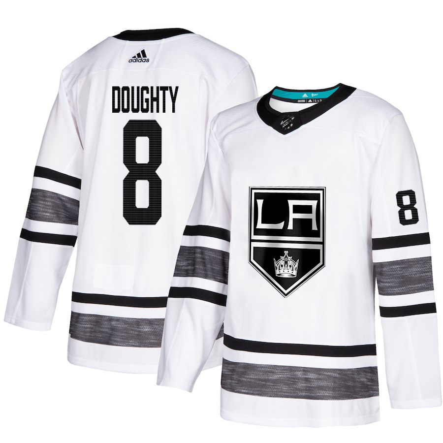 Adidas Kings #8 Drew Doughty White Authentic 2019 All-Star Stitched Youth NHL Jersey