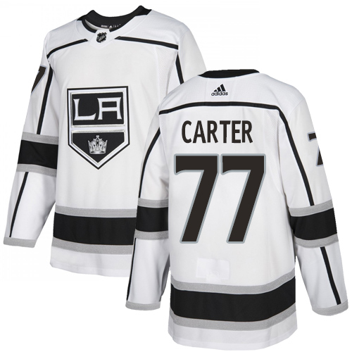 Adidas Kings #77 Jeff Carter White Road Authentic Stitched Youth NHL Jersey