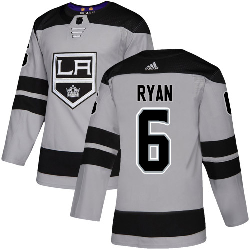 Adidas Kings #6 Joakim Ryan Gray Alternate Authentic Stitched Youth NHL Jersey