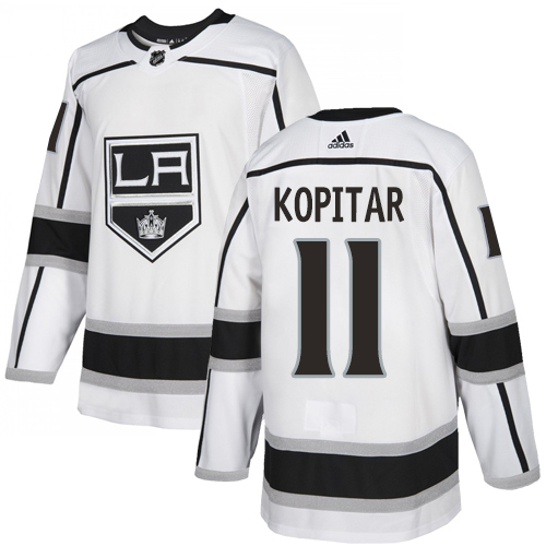 Adidas Kings #11 Anze Kopitar White Road Authentic Stitched Youth NHL Jersey