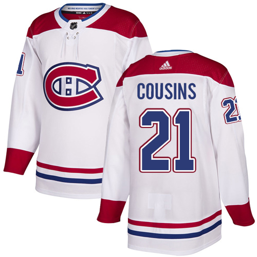 Adidas Canadiens #21 Nick Cousins White Road Authentic Stitched Youth NHL Jersey