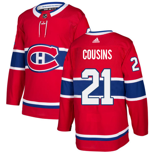 Adidas Canadiens #21 Nick Cousins Red Home Authentic Stitched Youth NHL Jersey