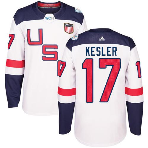 Team USA #17 Ryan Kesler White 2016 World Cup Stitched Youth NHL Jersey