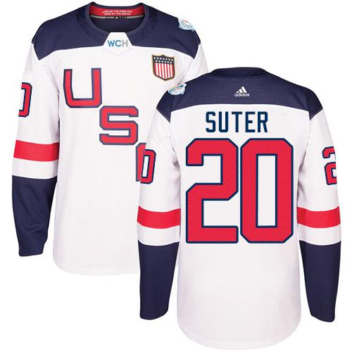Team USA #20 Ryan Suter White 2016 World Cup Stitched Youth NHL Jersey