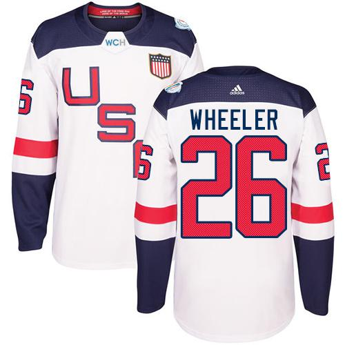 Team USA #26 Blake Wheeler White 2016 World Cup Stitched Youth NHL Jersey