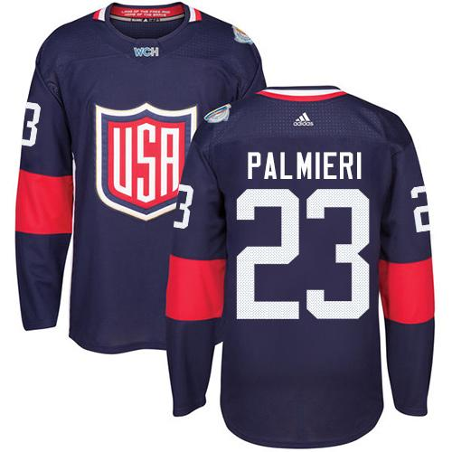 Team USA #23 Kyle Palmieri Navy Blue 2016 World Cup Stitched Youth NHL Jersey