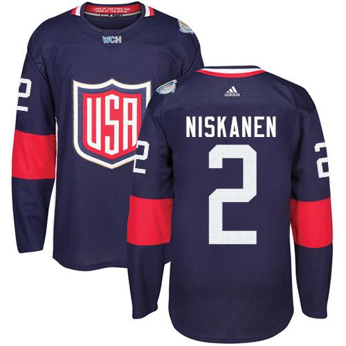 Team USA #2 Matt Niskanen Navy Blue 2016 World Cup Stitched Youth NHL Jersey