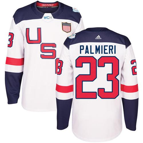 Team USA #23 Kyle Palmieri White 2016 World Cup Stitched Youth NHL Jersey
