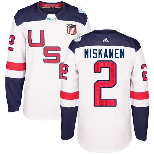 Team USA #2 Matt Niskanen White 2016 World Cup Stitched Youth NHL Jersey