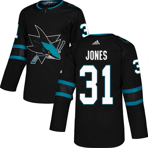Adidas Sharks #31 Martin Jones Black Alternate Authentic Stitched Youth NHL Jersey